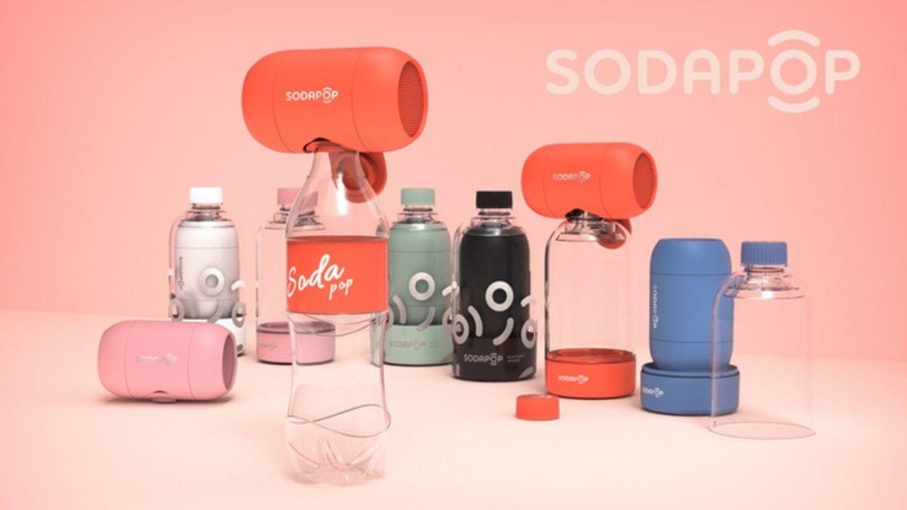 ペットボトルで低音を増幅させる小型Bluetoothスピーカー「Sodapop」