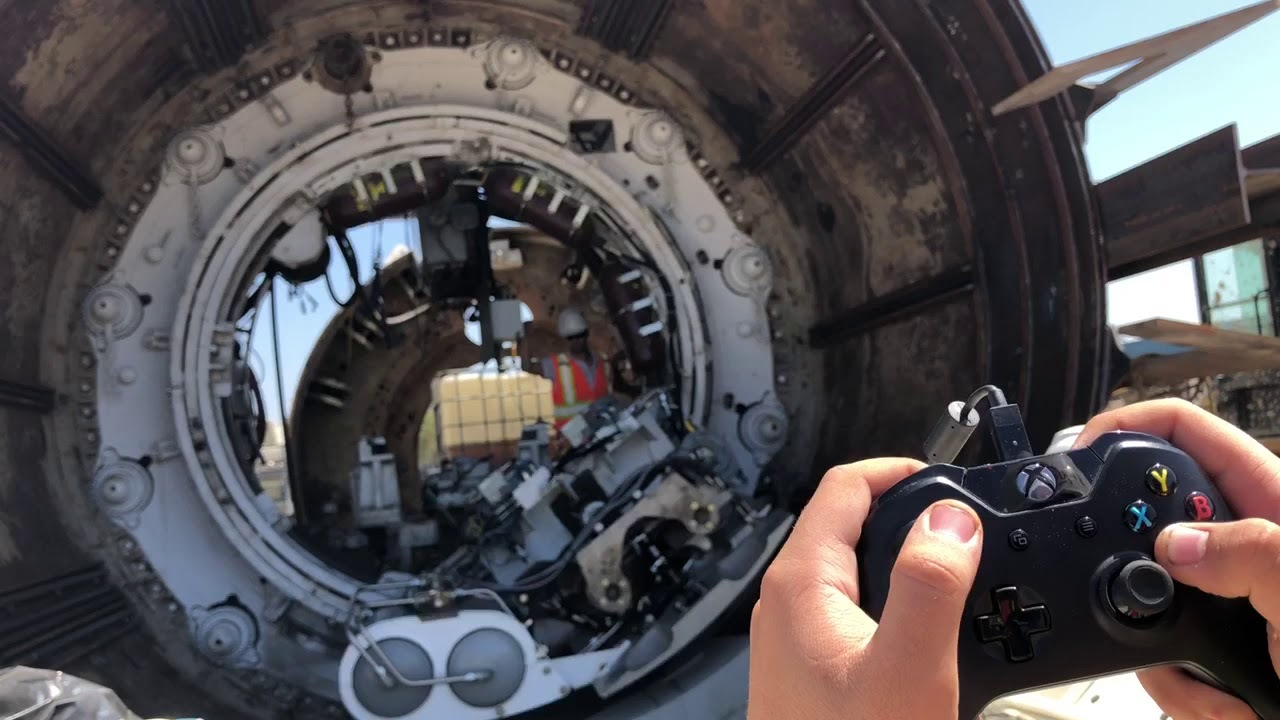 Xboxコントローラー、潜水艦の次はトンネル掘削機を操る