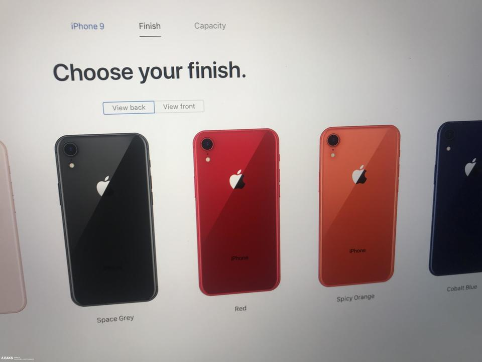 iPhone XRは6色、iPhone XS/XS Maxにはゴールドモデル追加で確定か?