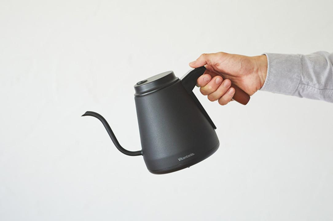 ハンドドリップが楽しくなりそう。バリスタと共同開発した温度調節つき電気ケトル