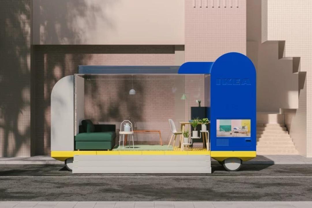 IKEAのコンセプト「SPACES ON WHEELS」なら、展示スペースが自律移動でやってくる