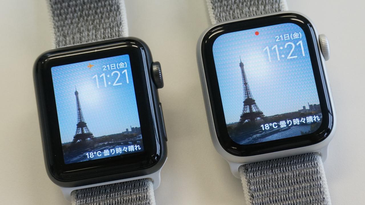 大きくなったApple Watch Series 4のディスプレイ、Series 3と比べてみました
