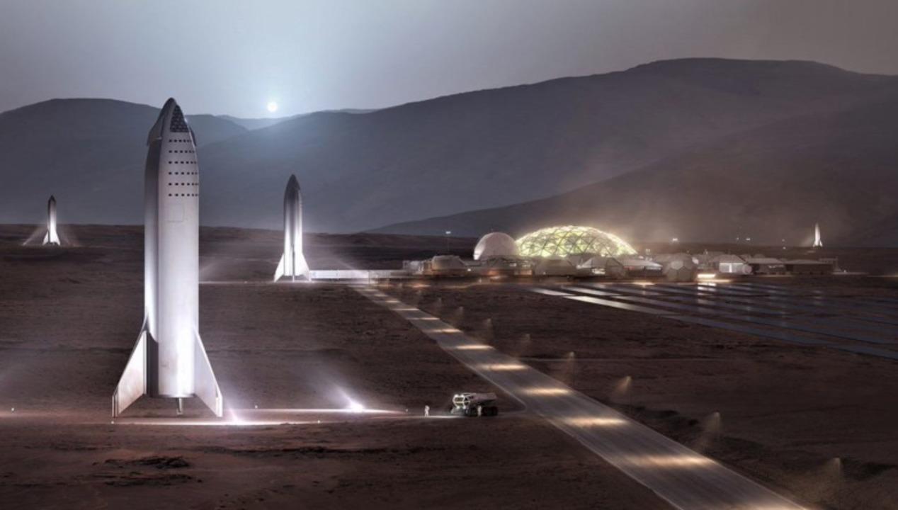 イーロン・マスクが「火星基地アルファ」は大体2028年かなとツイート