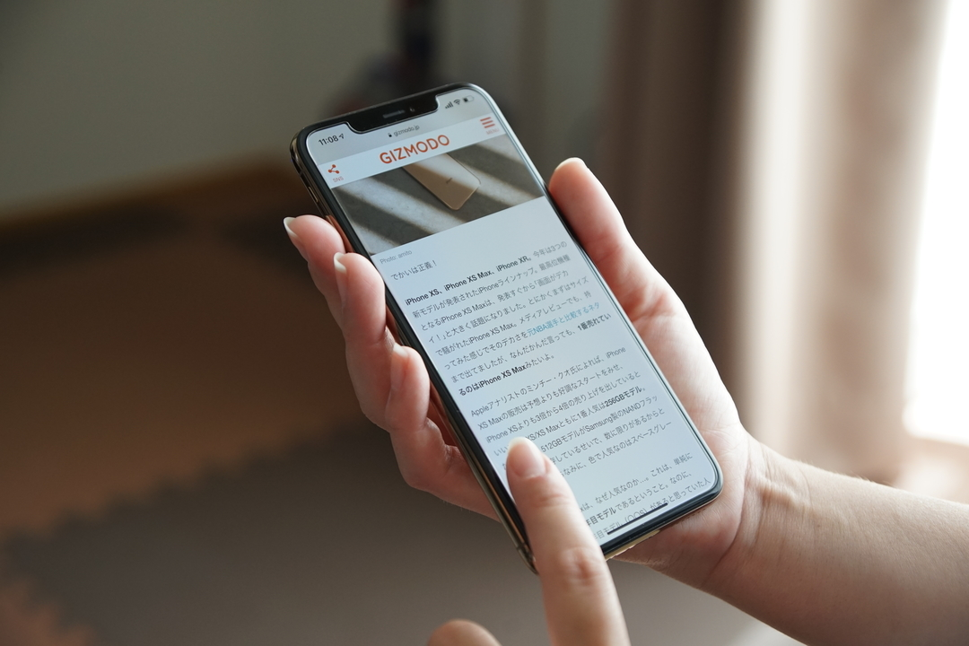 iPhone XS Maxだけ「画面の拡大表示」が利用できるみたい