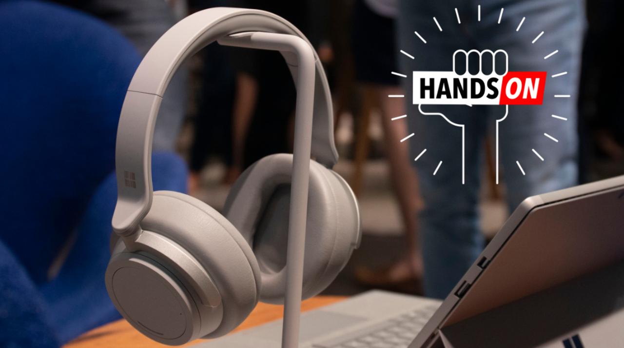 Surface Headphonesハンズオン:これ以上デカいノイズ、ボリュームつまみはない。
