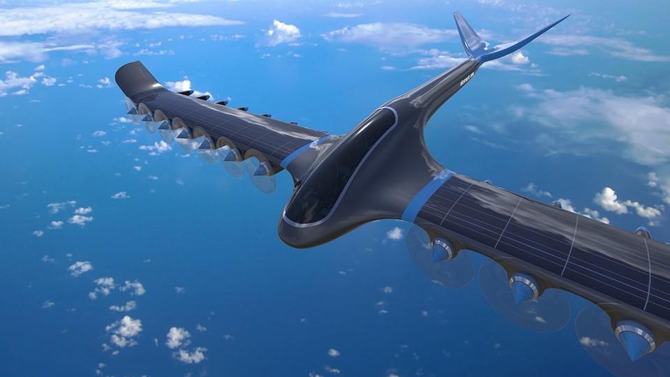 太陽光&風力発電しながら飛ぶ水素燃料電池飛行機「Element One」