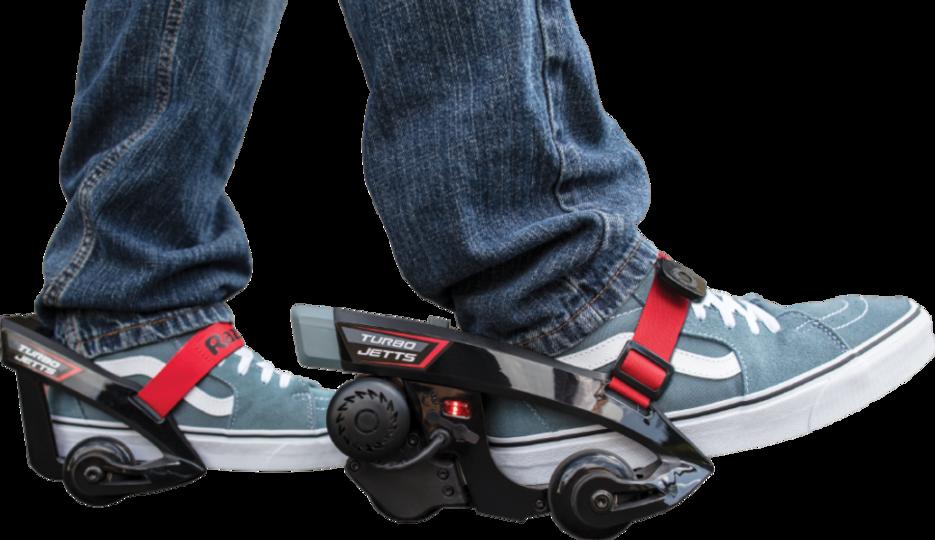 『ボトムズ』みたいに地上を高速移動したいって夢、叶えます。靴に装着する電動モーター「Razor Turbo Jetts」