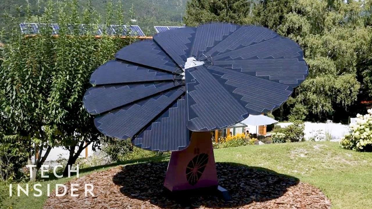 モデルはひまわり。太陽の動きに合わせて開いて傾くスマート太陽光パネル「SmartFlower」