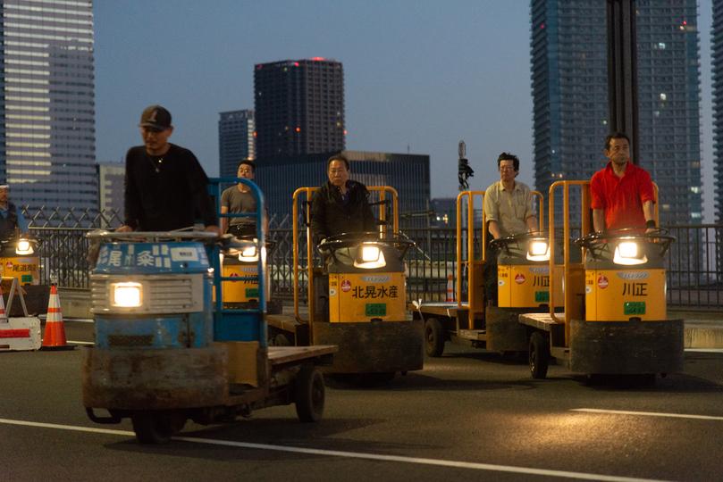 築地市場から豊洲新市場引っ越しで「豊洲ターレーグランプリ」開催