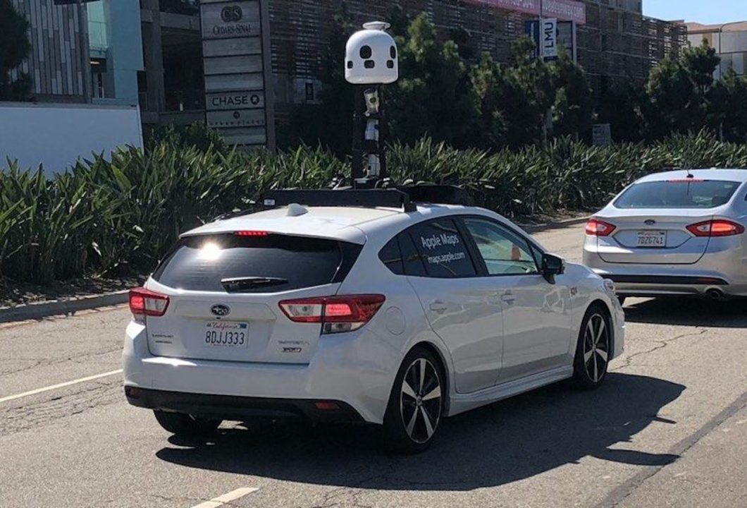 車上にきのこ?Appleの地図データ収集車に新型登場