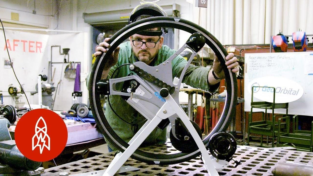 「車輪のデッドスペース」はこう使え。自転車、車椅子、三輪車などに応用可能な革命的電動ホイールを作った男