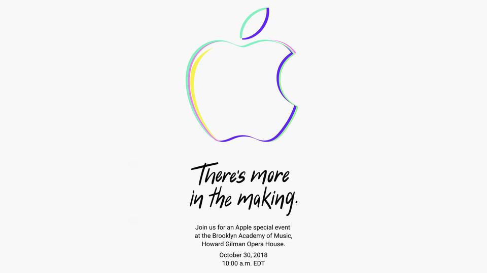 速報:Apple、10月30日23時よりSpecial Eventを開催