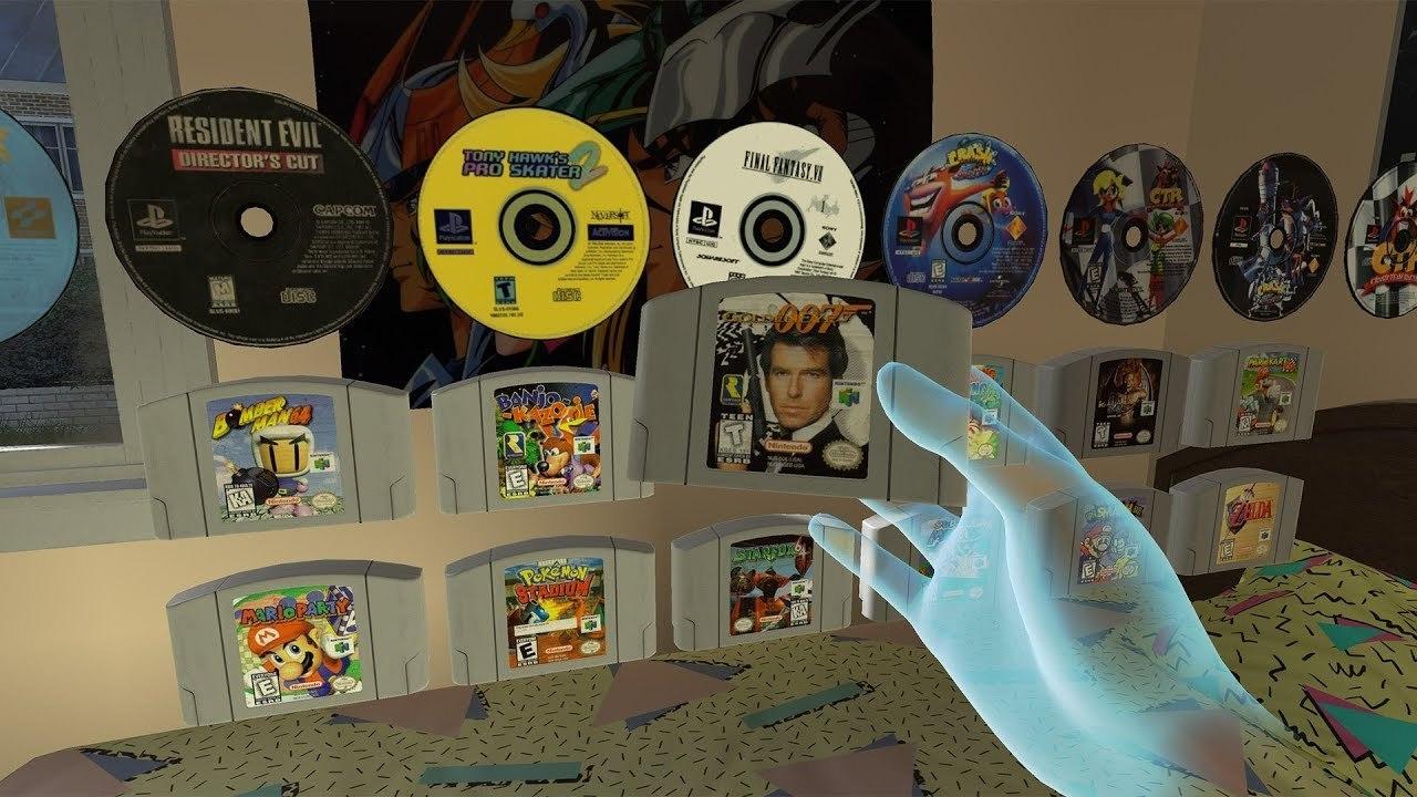 ビバ80年代! VRの世界でレトロゲーム機を遊ぶ「EmuVR」