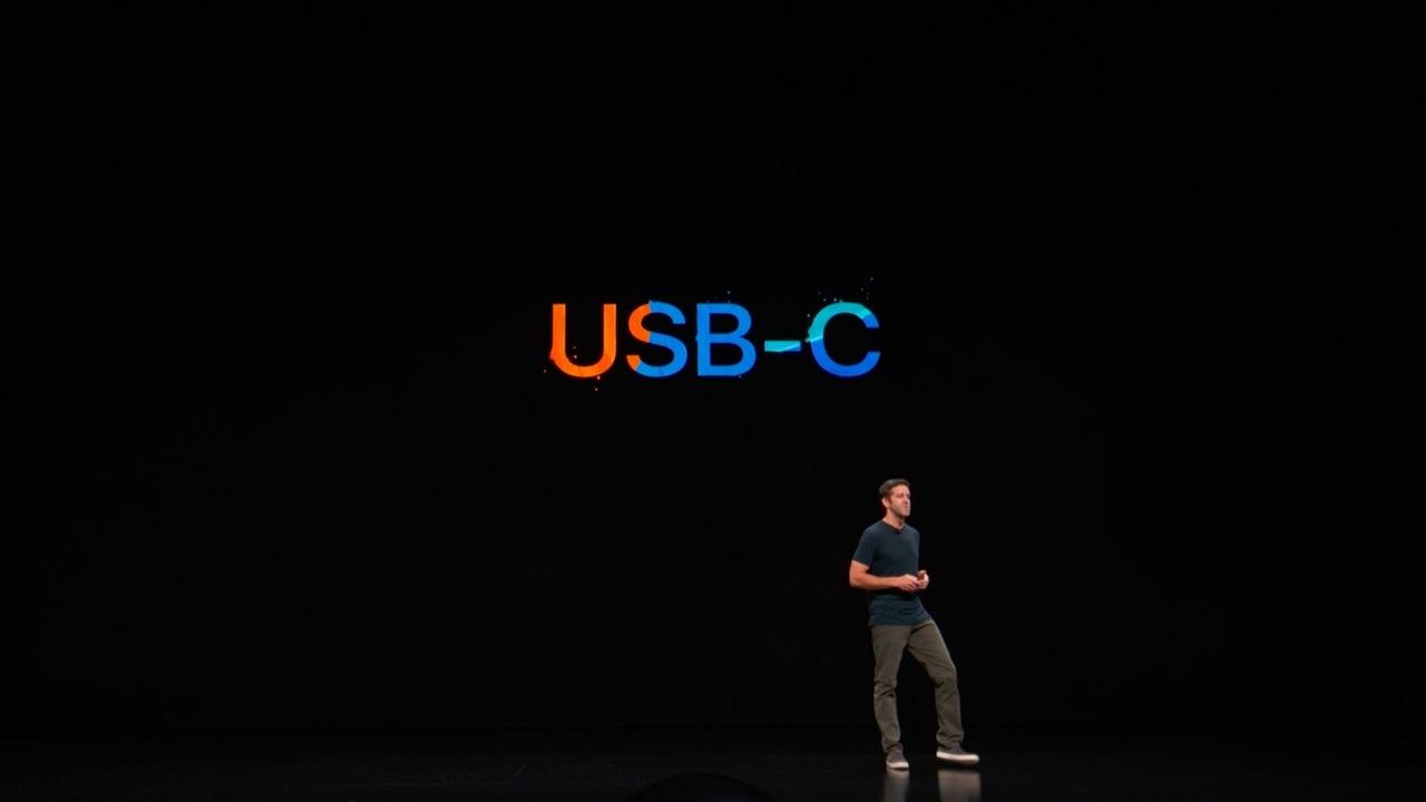 新iPad Pro、USB-C搭載です! もう一度言います、新iPad Pro、USB-C搭載です!! #AppleEvent