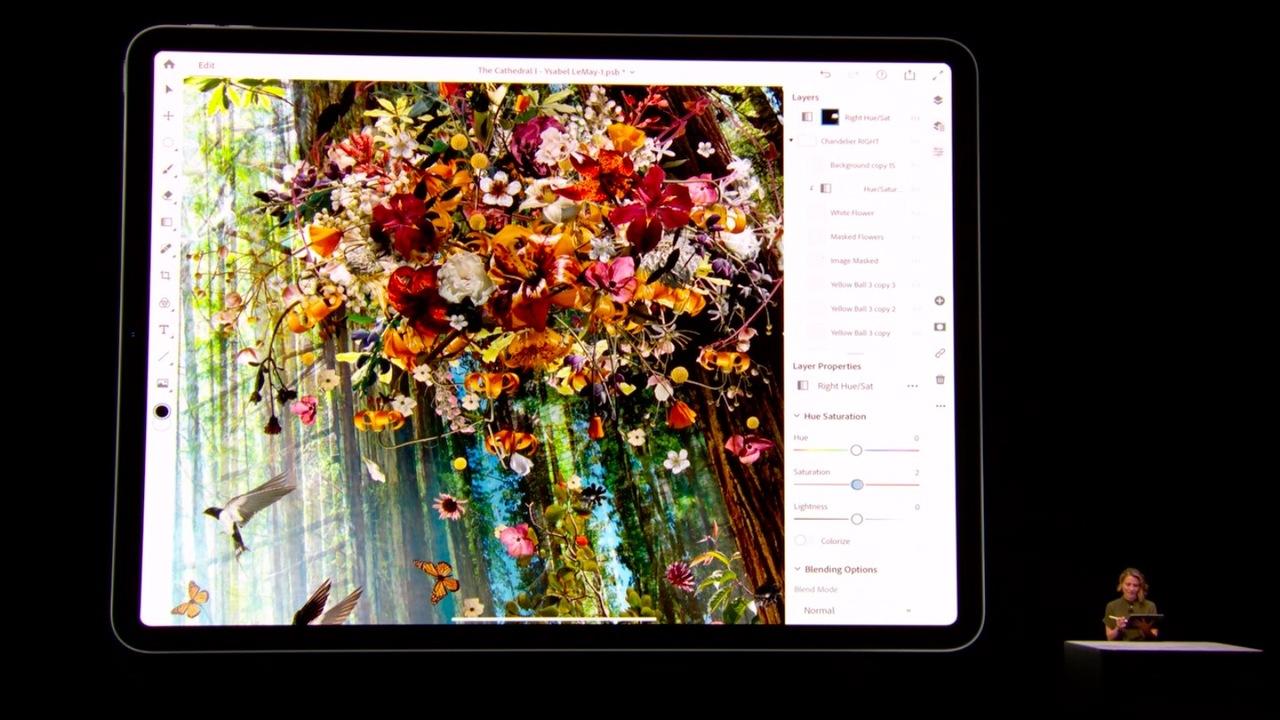 新しいiPad Pro、Photoshopで使ってたレイヤーの数が100枚超えてたんすけど… #AppleEvent