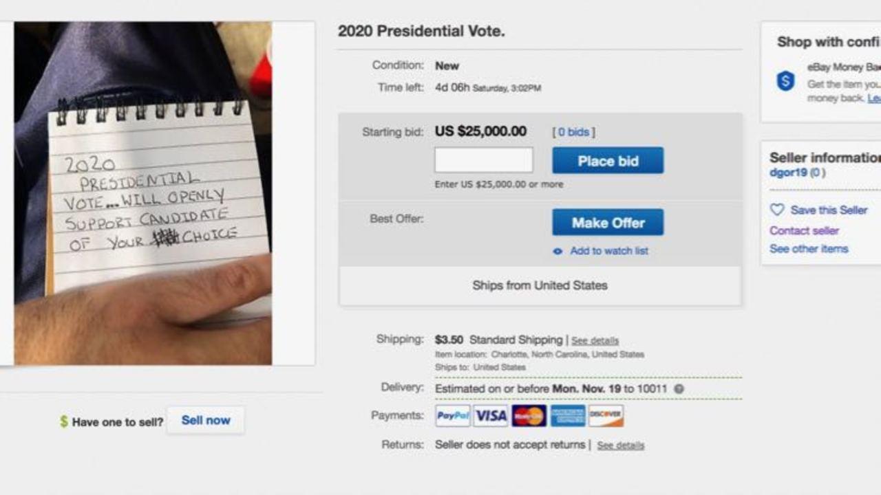 一票を2万5000ドルで売るアメリカンなアメリカンが現る