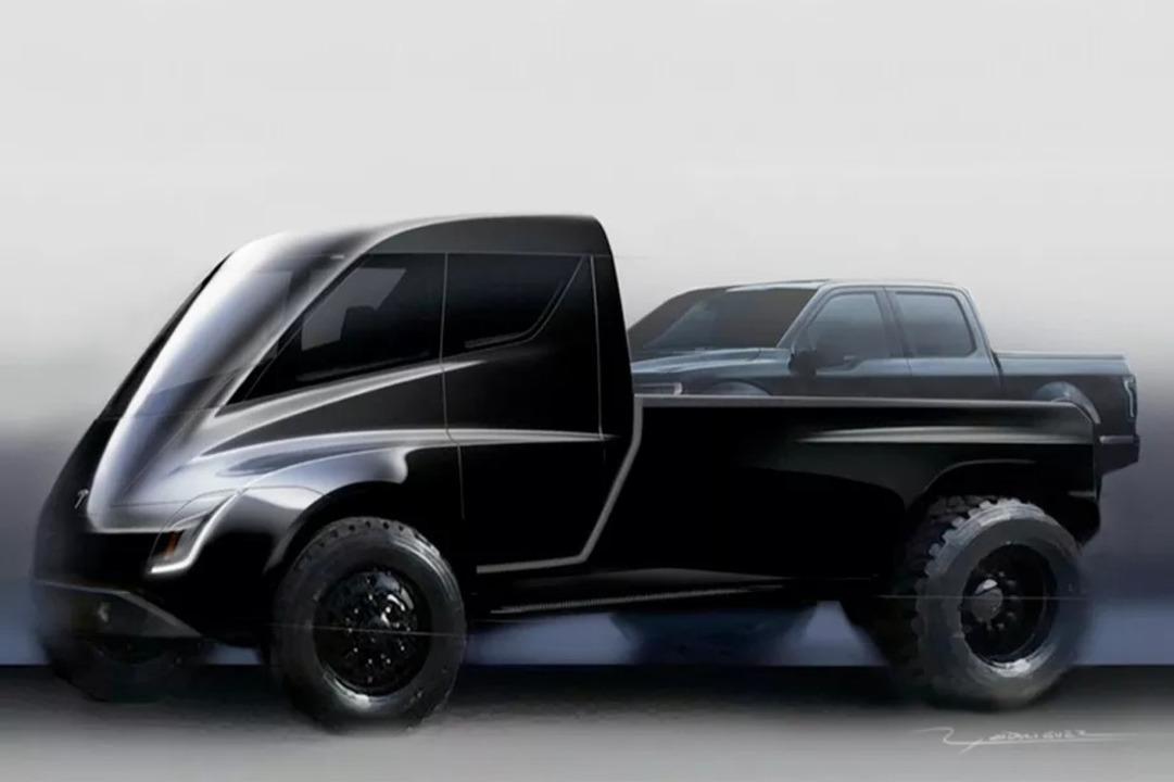 Teslaのピックアップトラック? 超未来サイバーパンクなロマンの塊さ
