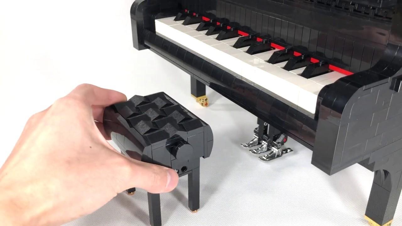 本物みたいにパーツが動く! レゴでちっちゃいグランドピアノを作ってみた