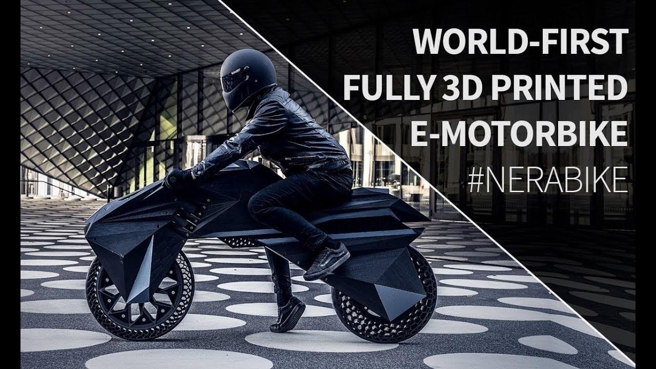 エアレス・タイアでフォークもない!? 世界初の3D印刷されたe-bike「NERA」