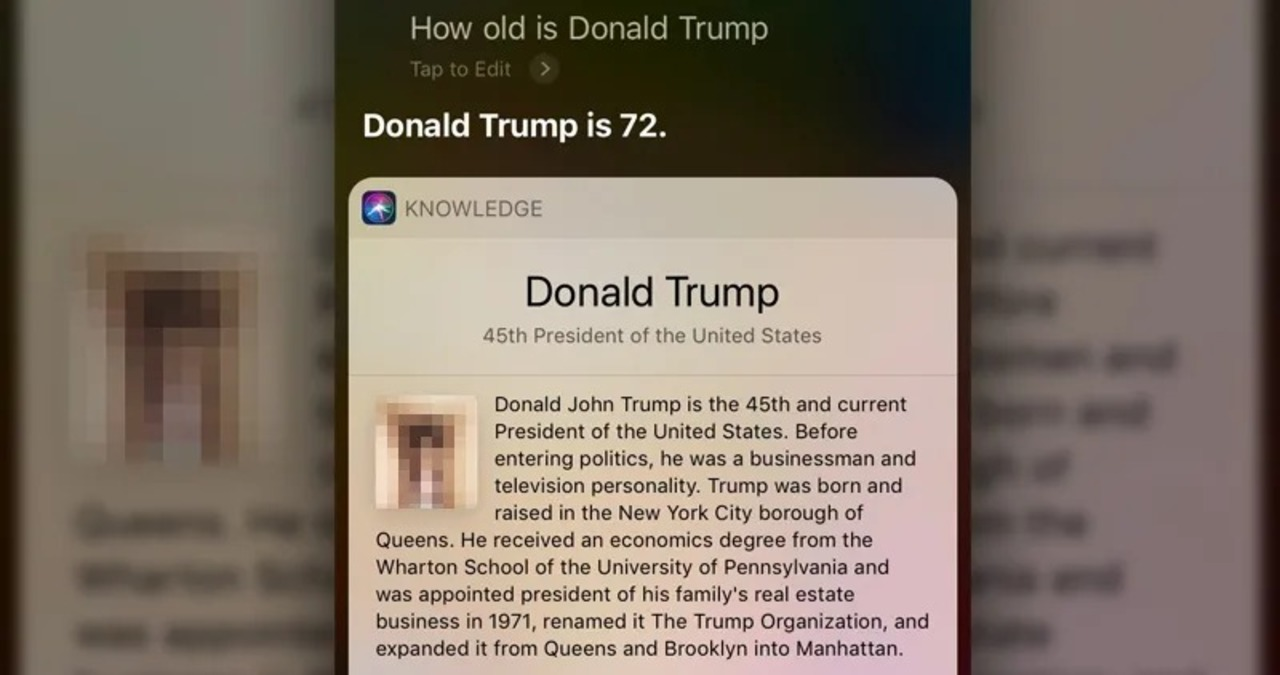 Siri「トランプ大統領はおトゥイントゥインです」