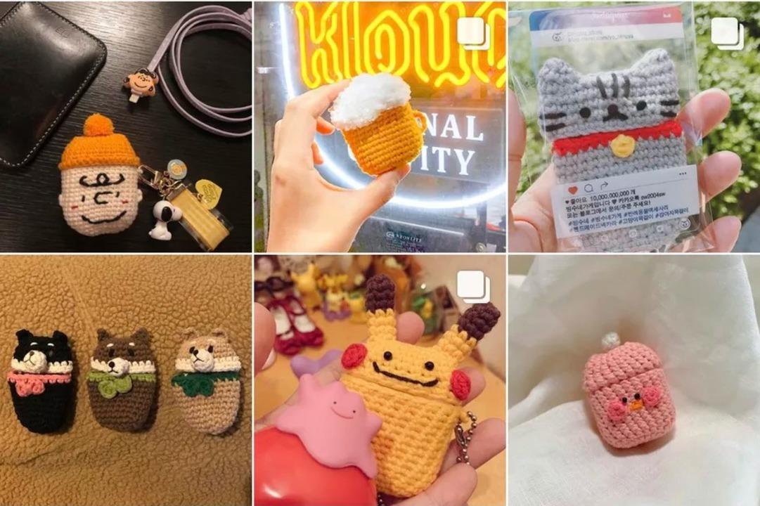 かわいすぎる手編みAirPodsケースケースが韓国で流行中