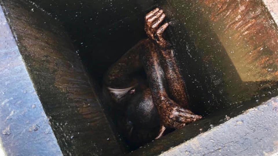 油まみれのダクトから瀕死の男性を発見。サンタ…ではない、その正体とは?