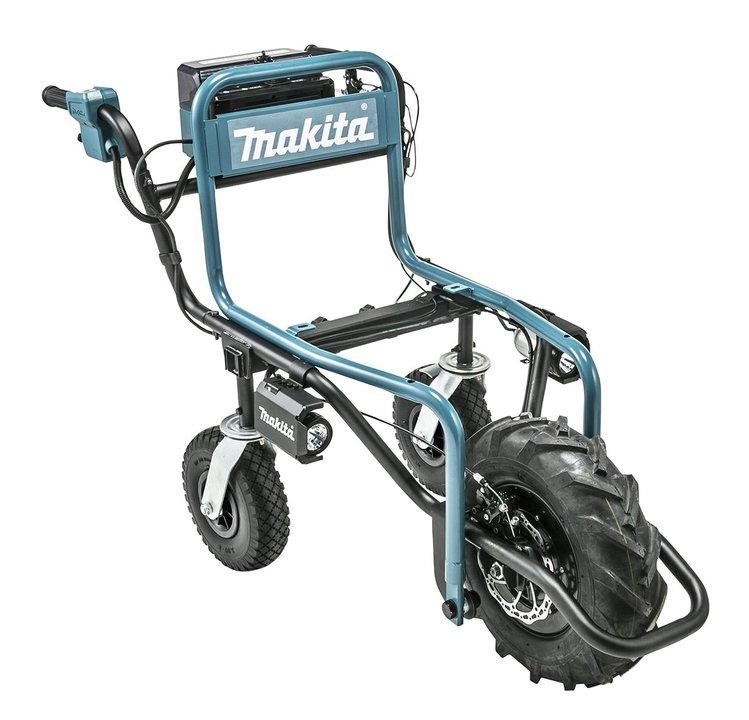 電動サポートのたくましさ! なんとマキタのバッテリーで動く「充電式運搬車」