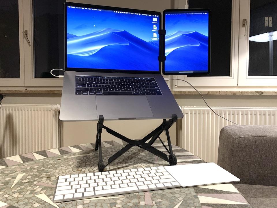 iPad Proを「タテ」にサブディスプレイ化。神アプデ後の「Duet」で作業スペースはさらに広がる