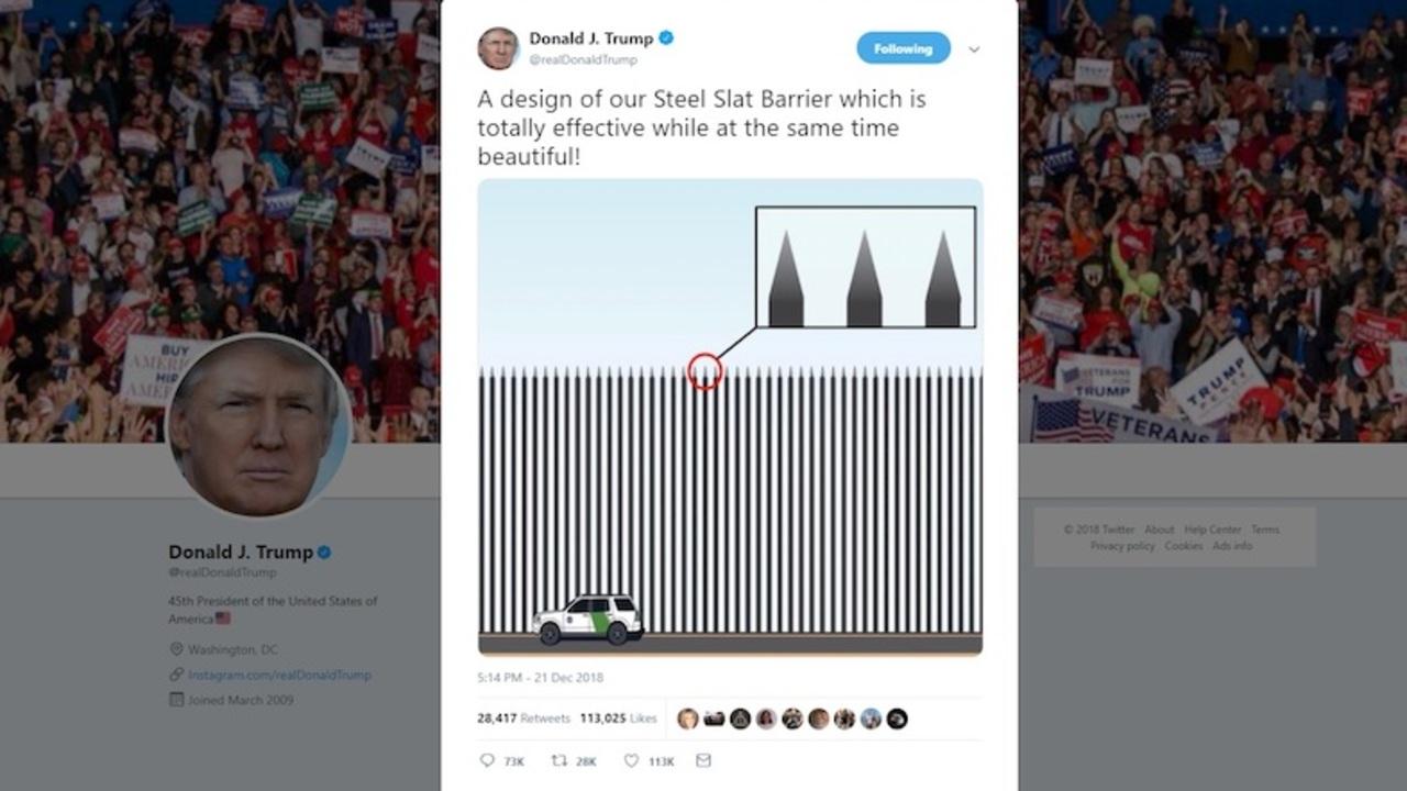 アイディアの泉トランプ大統領「メキシコ国境の壁だけど、尖った鉄の棒でよくない?」