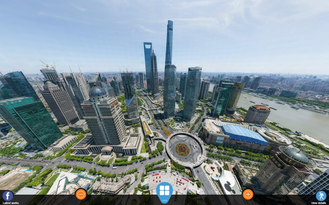 上海の電視塔から撮った1950億ピクセルの360度写真。どこまでも拡大して観光してみよう