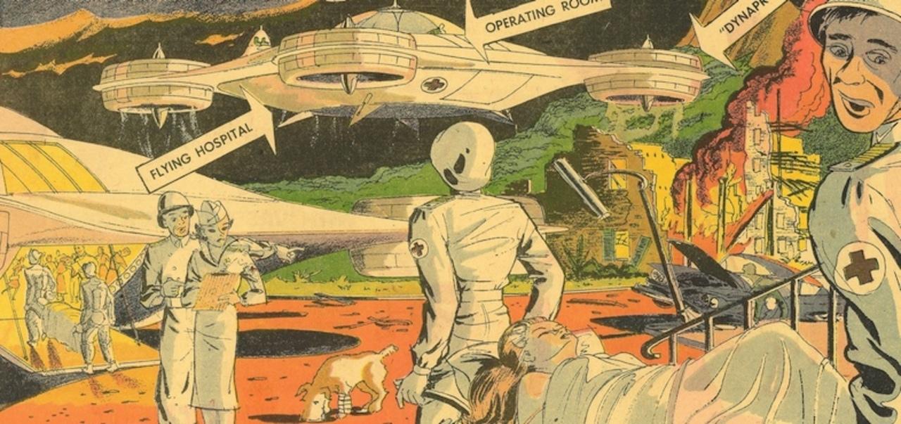 1960年に思い描いた「空飛ぶ病院」は、ある意味もう実現しているのでは?