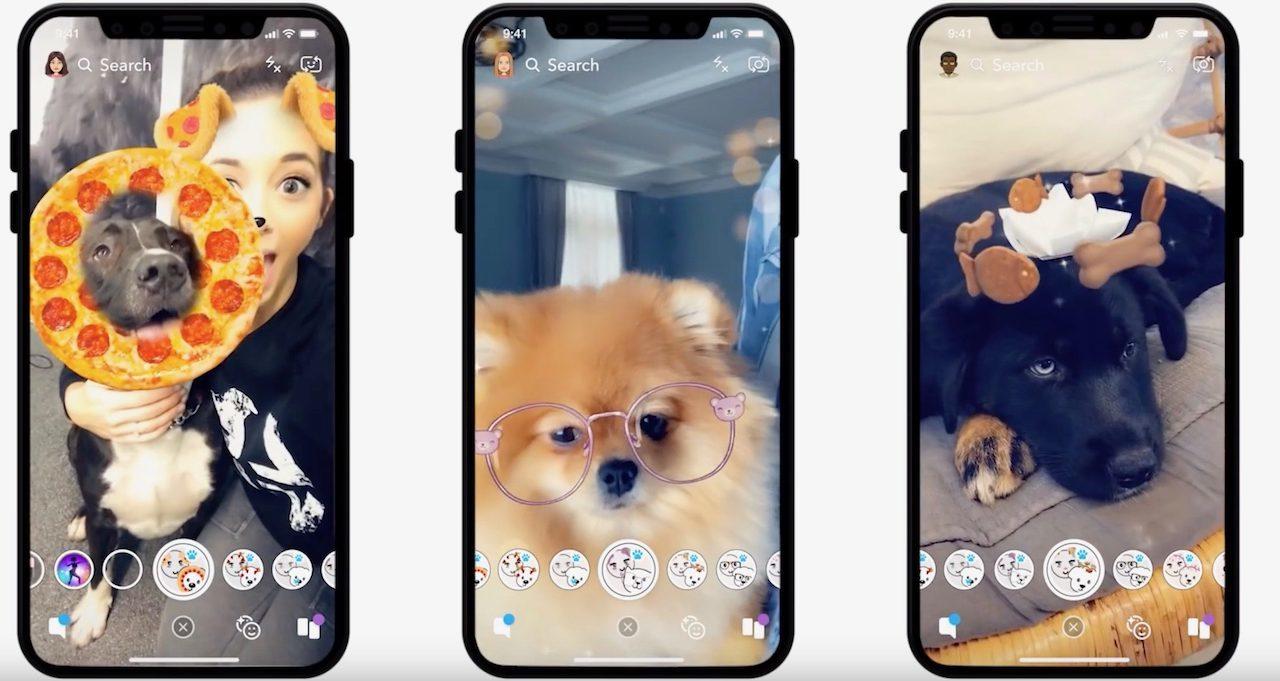 Snapchatにとうとう「犬用ARレンズ」が搭載