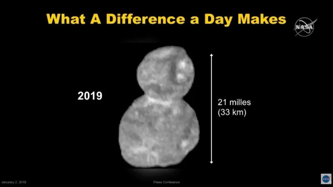 宇宙の雪だるま? 探査機ニューホライズンズがウルティマ・トゥーレの画像を送信