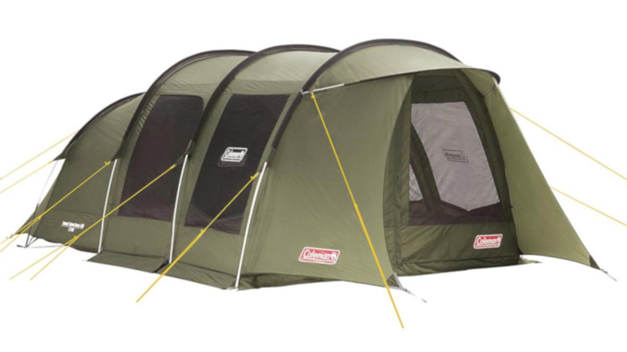 組み立てが簡単な上に、ファミリーで使えるコールマンの広々テントはいかが? カーキはAmazon限定カラーだよ