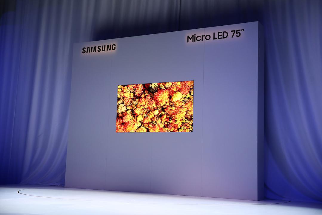 Samsung、75インチのMicro LEDテレビを公開。サイズも自由に変更できるって #CES2019