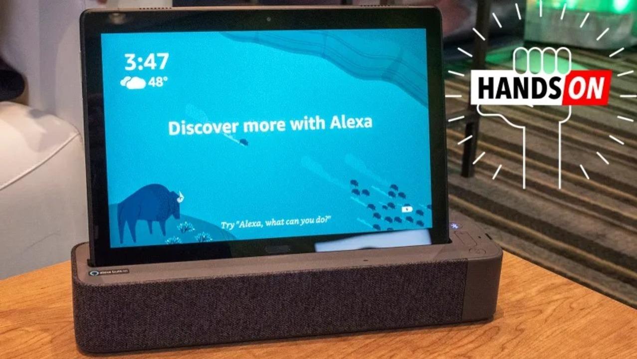 Lenovoの新タブレット「M10 / P10」ハンズオン:ドック付きでスマートスピーカーにもなるよ #CES2019
