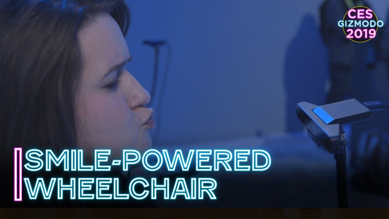 Intelが表情でコントロールでき、笑顔で走る車椅子を作る #CES2019