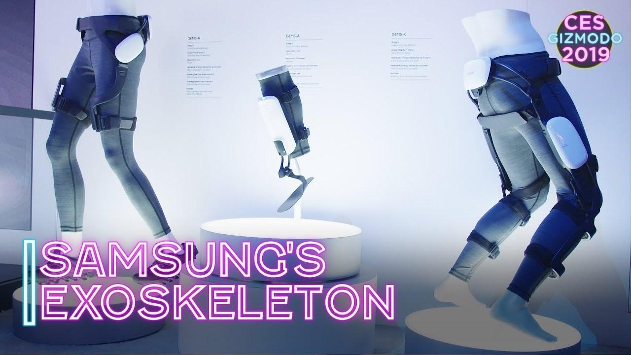 まるで空気の上を歩いているよう。Samsungのイカした強化外骨格 #CES2019