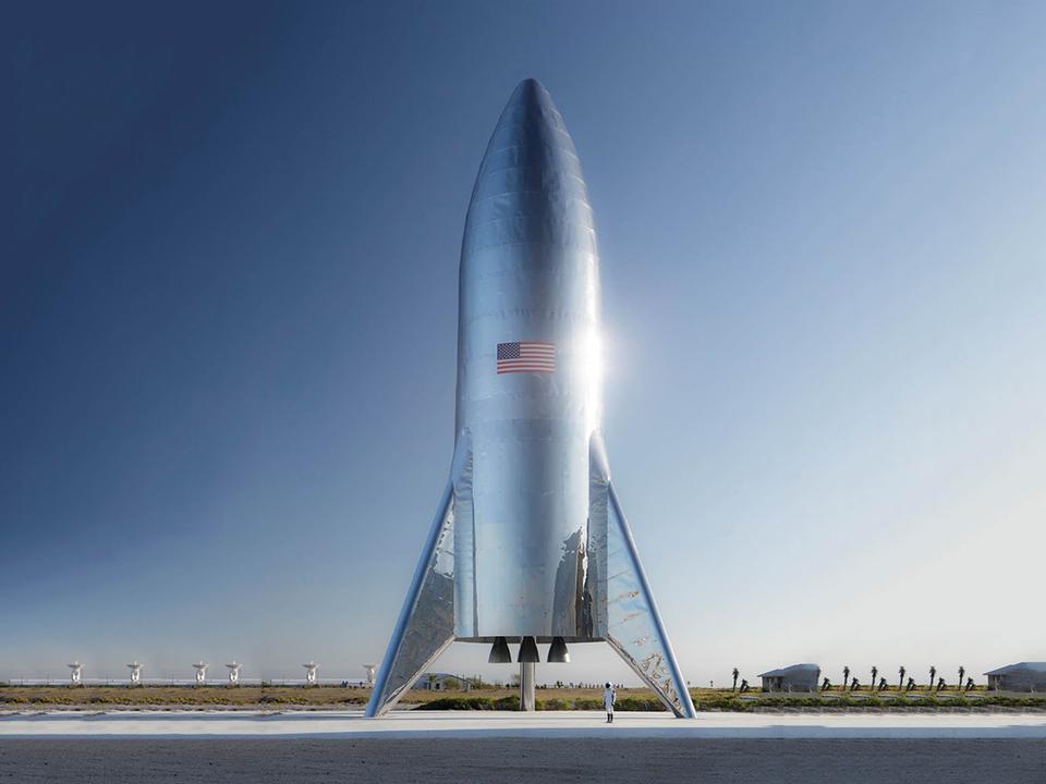 SpaceXの試験用Starshipが完成。ギンギラギンだけど夏休みの工作っぽいかも…