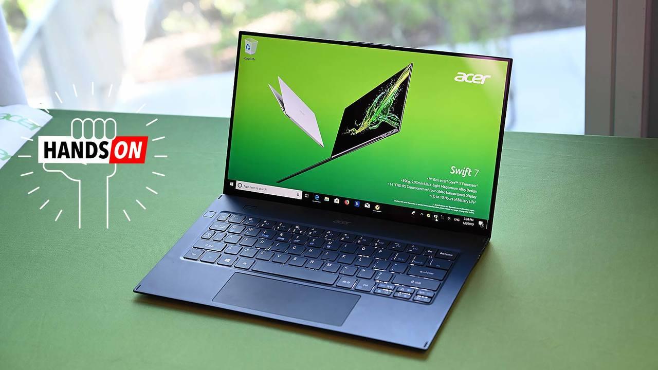 久々にワクワクするWindowsラップトップ。極薄超軽量のAcer Swift 7をハンズオン #CES2019