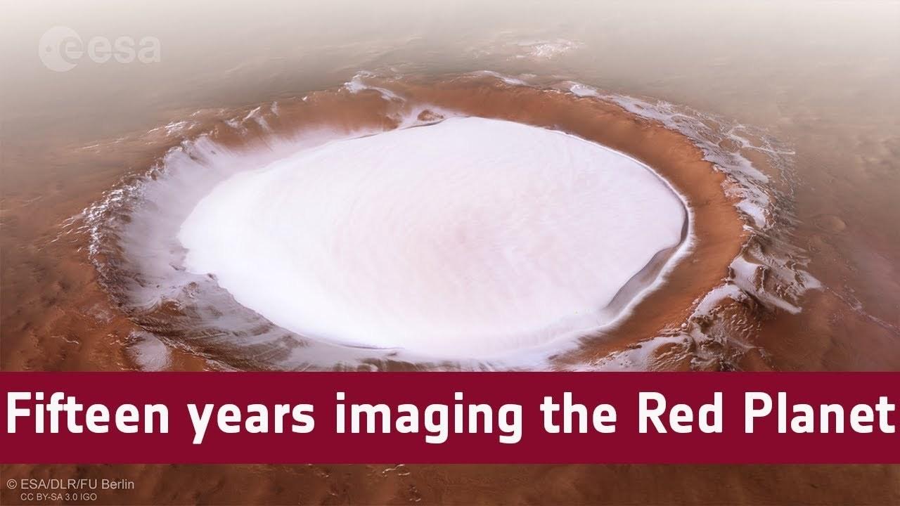 驚きの地形を見てみよう。火星探査機マーズ・エクスプレス活動15年