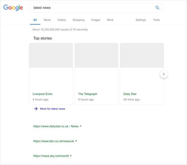 出た、Google最終兵器。EU著作権法改正後の白抜き画面がリーク