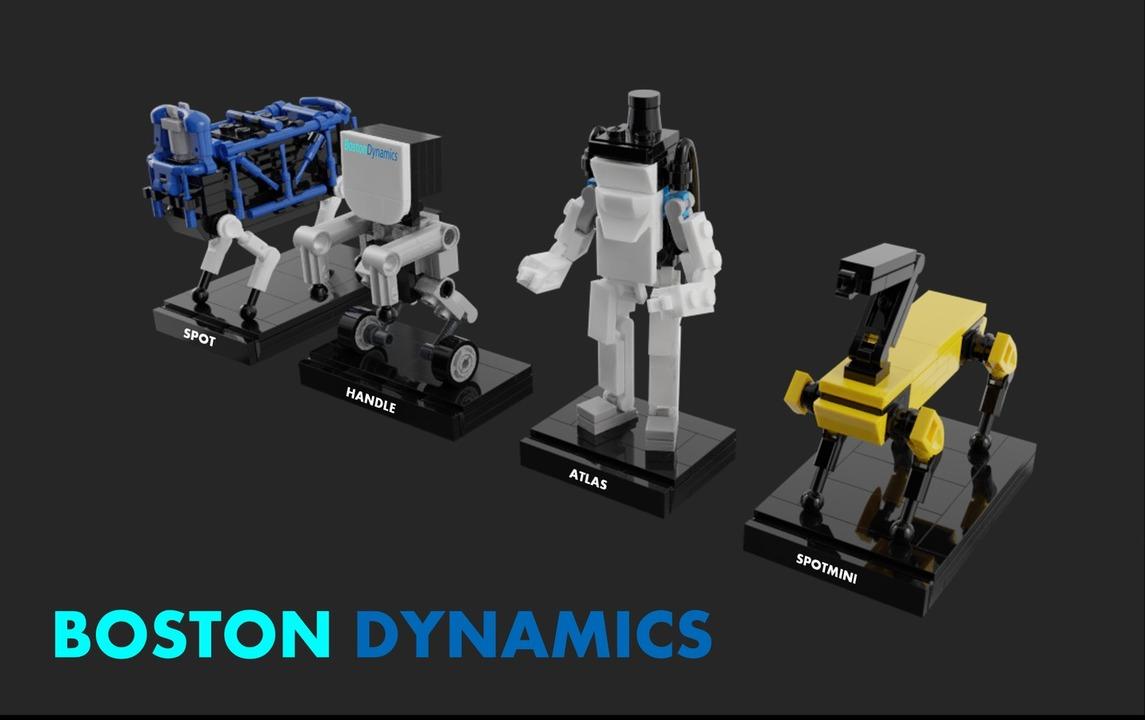 ボストン・ダイナミクスのロボたちをレゴで可愛く再現