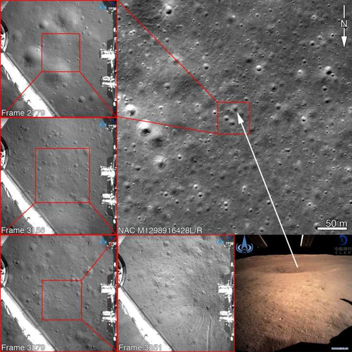 NASA「中国の月面着陸はウソじゃないみたい」。航空写真で地形が一致する