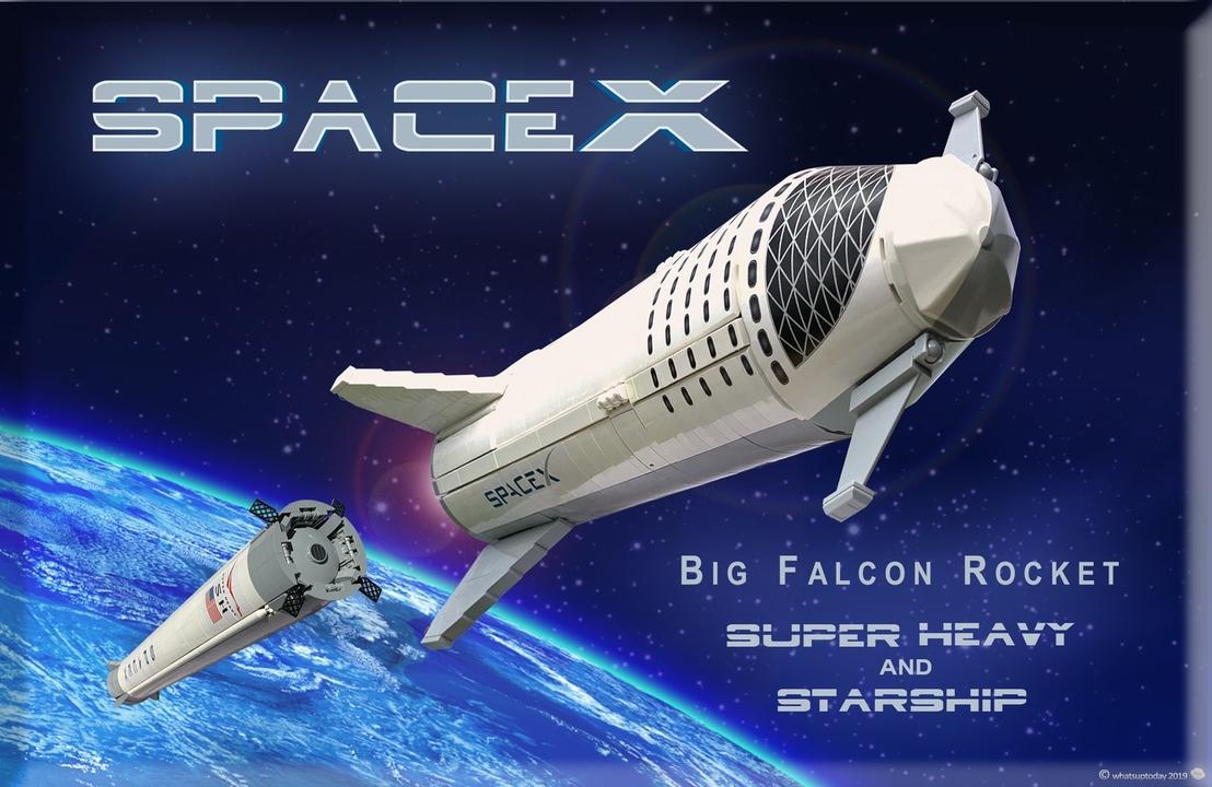 レゴでできたSpaceXの「Starship」。これで完成形がわかるぞ