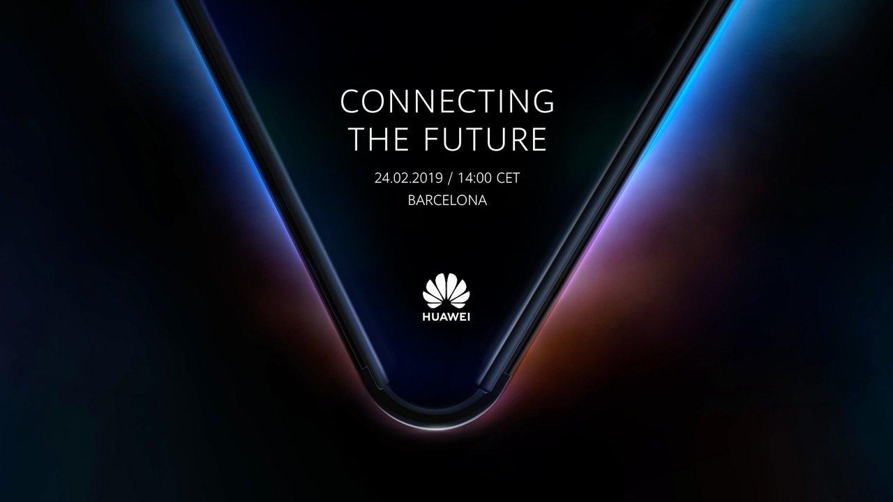 Huaweiの折りたたみスマートフォン? きれいなV字だね