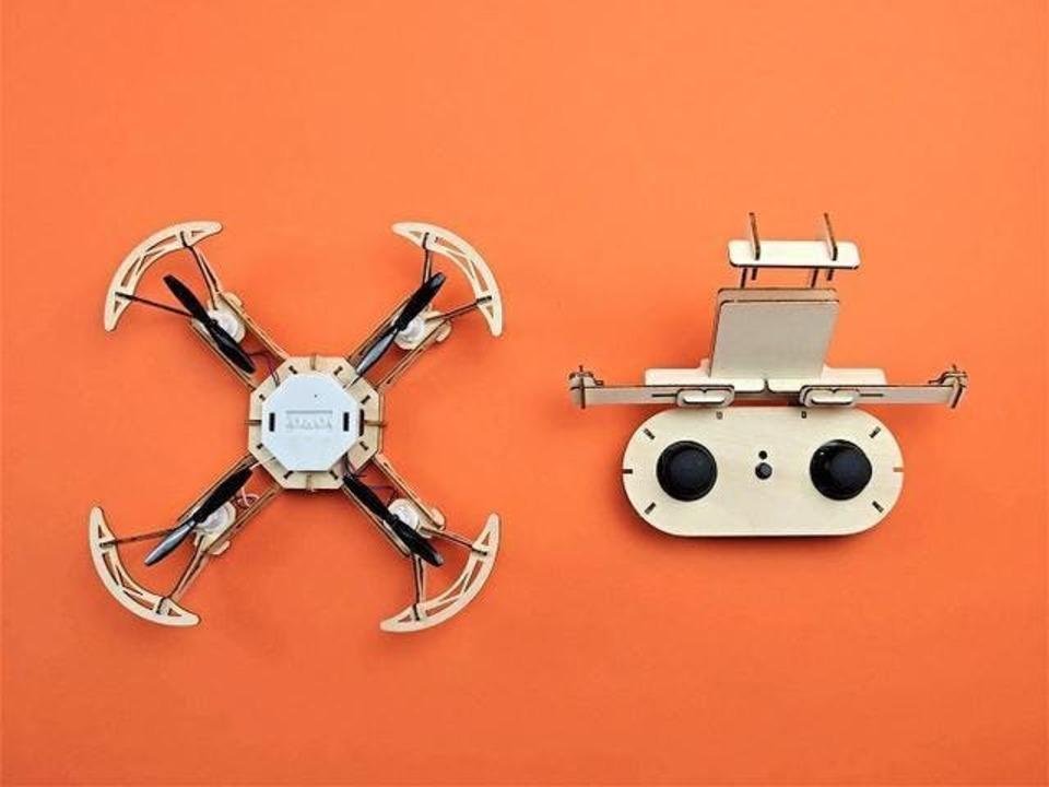 作って、飛ばせ! 空撮やプログラミングもできる木製ドローンがCampfireでクラファンを開始