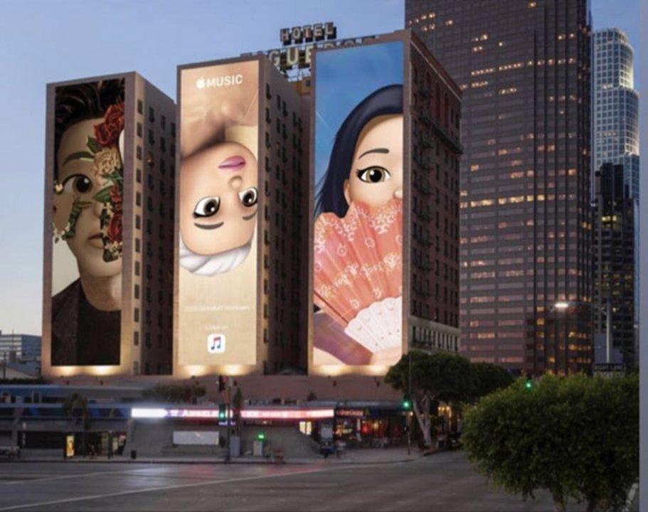 アリアナ・グランデがMemojiに! Apple MusicがLAの街に巨大な広告を展開中