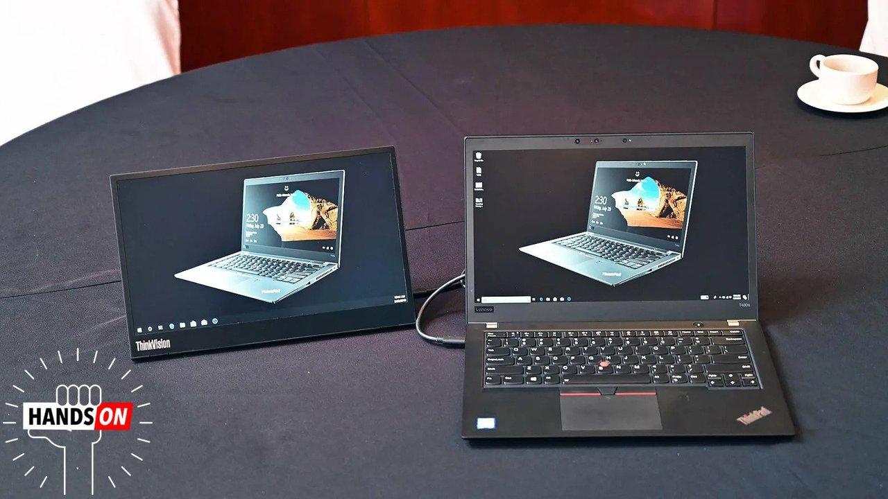 レノボの外付けディスプレイ「ThinkVision M14」ハンズオン:いますぐ欲しい。ラップトップのベストフレンド