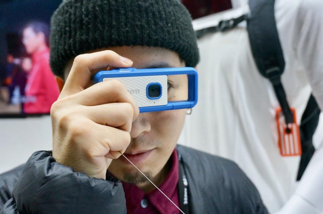 キヤノンブースにて発見! 100ドル以下を目指す小型アクションカメラのコンセプトモデル #CPPLUS